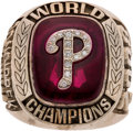 Baseball Collectibles:Others, 2008 Philadelphia Phillies World Series Championship Ring. ...
