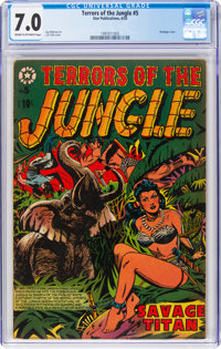 Terrors of the Jungle #5 (Star Publications, 1953) CGC FN/VF 7.0 Cream to off-white pages