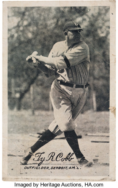 1921 Exhibit Ty Cobb from The Ty Cobb Collection