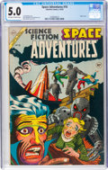 Golden Age (1938-1955):Science Fiction, Space Adventures #10 (Charlton, 1954) CGC VG/FN 5.0 Off-white to white pages....
