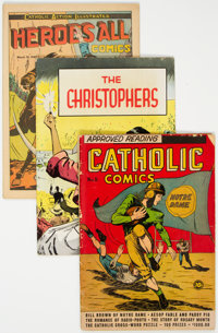Religious Comics Group of 43 (Various Publishers, 1940s-50s) Condition: Average VG.... (Total: 43 )