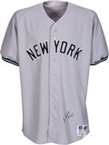 Baseball Collectibles:Uniforms, 1993 Lee Smith Game Worn & Signed New York Yankees Jersey....