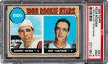 Baseball Cards:Singles (1970-Now), 1968 Topps Johnny Bench - Reds Rookies #247 PSA Mint 9....
