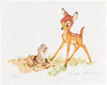 """Memorabilia:Disney, Bambi Clamshell Signed Print and Book Limited Edition Set - Ollie Johnston and Frank Thomas """"Suite IV"""" #458/500 (Circl..."""