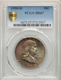 1958-D 50C MS67 PCGS. PCGS Population: (40/0). NGC Census: (22/0). MS67. Mintage 23,962,412