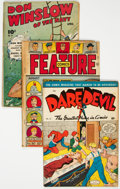 Golden Age (1938-1955):Miscellaneous, Golden Age Comics Group of 5 (Various Publishers, 1940s) Condition: Average VG-.... (Total: 5 Comic Books)