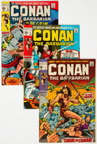 Conan the Barbarian #1-9 Group (Marvel, 1970-71) Condition: Average VG/FN.... (Total: 9 Comic Books)