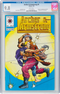 Archer & Armstrong #0 (Valiant, 1992) CGC NM/MT 9.8 White pages