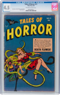 Tales of Horror #11 (Toby Publishing, 1954) CGC VG+ 4.5 Off-white to white pages