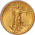 High Relief Double Eagles, 1907 $20 High Relief, Flat Rim, MS67 PCGS. CAC....