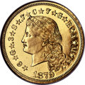 Proof Four Dollar Gold Pieces, 1879 $4 Flowing Hair, Judd-1635, Pollock-1833, JD-1, R.3, PR65 Cameo NGC. CAC....