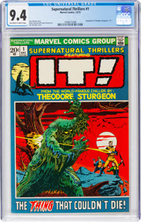 Supernatural Thrillers #1 (Marvel, 1972) CGC NM 9.4 Off-white to white pages