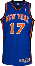 Basketball Collectibles:Uniforms, 2011-12 Jeremy Lin Game Worn New York Knicks Jersey--Photo Matched to Three Games!...