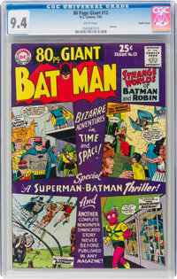 80 Page Giant #12 Batman Pacific Coast Pedigree (DC, 1965) CGC NM 9.4 White pages