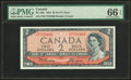 "World Currency, Canada Bank of Canada $2 1954 BC-30b ""Devil's Face"" PMG Gem Uncirculated 66 EPQ.. ..."