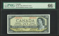Canadian Currency, Canada Bank of Canada $20 1954 BC-33b Devil's Face...