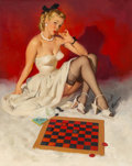 Mainstream Illustration, Gil Elvgren (American, 1914-1980)Check and ...