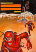Edmund (Emsh) Emshwiller (American, 1925-1990) Science Fiction Stories cover preliminary, May 1957 G