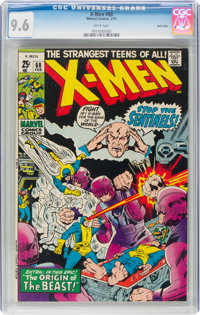 X-Men #68 Twin Cities Pedigree (Marvel, 1971) CGC NM+ 9.6 White pages