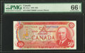 World Currency, Canada Bank of Canada $50 1975 BC-51a-i PMG Gem Uncirculated 66 EPQ.. ...