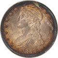 Reeded Edge Half Dollars, 1838 50C GR-13, R.1, MS64 PCGS. CAC....