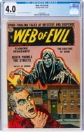 Golden Age (1938-1955):Horror, Web of Evil #8 (Quality, 1953) CGC VG 4.0 Off-white to white pages....