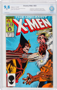 X-Men #222 (Marvel, 1987) CBCS NM/MT 9.8 White pages