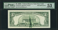Error Notes:Ink Smears, Green Ink Smear on Back Error Fr. 1972-B $5 1969C Federal Reserve Note. PMG About Uncirculated 53.. ...