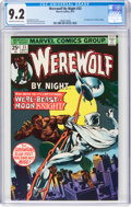 Bronze Age (1970-1979):Horror, Werewolf by Night #33 (Marvel, 1975) CGC NM- 9.2 Off-white to white pages....
