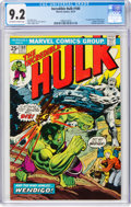 Bronze Age (1970-1979):Superhero, The Incredible Hulk #180 (Marvel, 1974) CGC NM- 9.2 Off-white to white pages....
