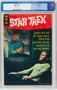 Star Trek #5 File Copy (Gold Key, 1969) CGC NM+ 9.6 Off-white pages