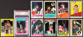 Basketball Cards:Lots, 1972 to 1986 Topps and Fleer Julius Erving Collection (10)....