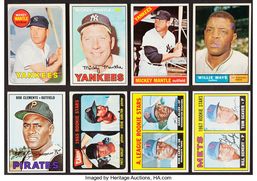1961 To 1969 Topps Collection With Multiple Mickey Mantles 8