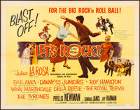 """Let's Rock & Other Lot (Columbia, 1958). Folded, Very Fine-. Half Sheets (2) (22"""" X 28""""). Rock and Rol..."""