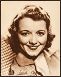 """Movie Posters:Miscellaneous, Janet Gaynor Portrait (20th Century Fox, Mid-1930s). Very Fine-. Jumbo Lobby Card (14"""" X 17""""). Miscellaneous.. ..."""