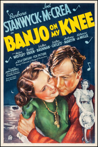 "Banjo on My Knee (20th Century Fox, 1936). Fine/Very Fine on Linen. One Sheet (27.25"" X 41"") Style A. Comedy..."