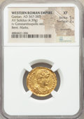 Ancients:Roman Imperial, Gratian, Western Roman Empire (AD 367-383). AV solidus (22...