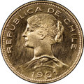 Chile, Chile: Republic gold 100 Pesos 1961-So MS67 NGC,...