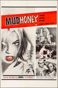 "Mudhoney (Eve Productions, 1965). Folded, Fine/Very Fine. One Sheet (27"" X 41""). Sexploitation"