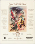 """Movie Posters:Academy Award Winners, Gone with the Wind (Turner Broadcasting, Inc,, R-1989). Rolled, Very Fine-. 50th Anniversary Celebration Poster (23"""" X 29"""")...."""
