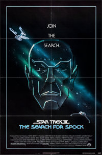 """Star Trek III: The Search for Spock (Paramount, 1984). Folded, Very Fine. One Sheet (27"""" X 41"""") Gerard Huerta..."""