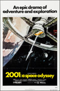 """2001: A Space Odyssey (MGM, R-1980). Folded, Very Fine+. One Sheet (27"""" X 41"""") Robert McCall Artwork. Science..."""