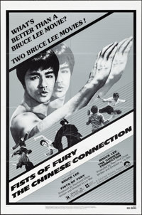 "Fists of Fury/The Chinese Connection Combo (Columbia, R-1980). Folded, Very Fine+. One Sheet (27"" X 41""). Acti..."