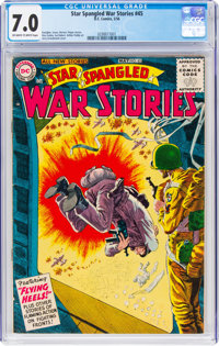 Star Spangled War Stories #45 (DC, 1956) CGC FN/VF 7.0 Off-white to white pages