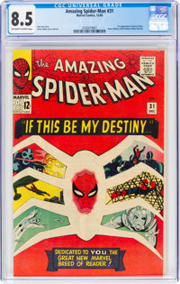 The Amazing Spider-Man #31 (Marvel, 1965) CGC VF+ 8.5 Off-white to white pages