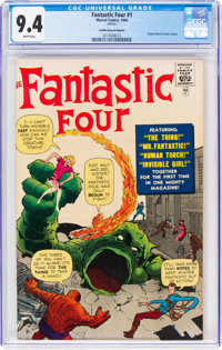 Fantastic Four #1 Golden Record Reprint (Marvel, 1966) CGC NM 9.4 White pages