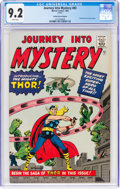 Silver Age (1956-1969):Superhero, Journey Into Mystery #83 Golden Record Reprint (Marvel, 1966) CGC NM- 9.2 White pages....