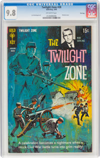 Twilight Zone #28 File Copy (Gold Key, 1969) CGC NM/MT 9.8 Off-white pages