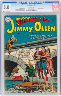 Superman's Pal Jimmy Olsen #3 (DC, 1955) CGC VG/FN 5.0 Off-white pages