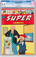 Golden Age (1938-1955):Miscellaneous, Super Comics #58 File Copy (Dell, 1943) CGC VF+ 8.5 Off-white pages....